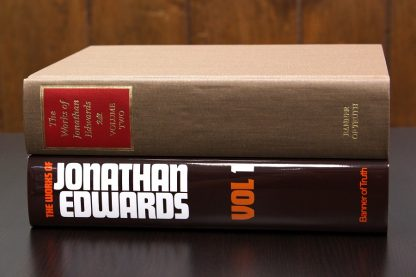 set image of works of jonathan edwards two volumes with and without dust jackets