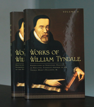 image of the 2 volume set the Works of William Tyndale