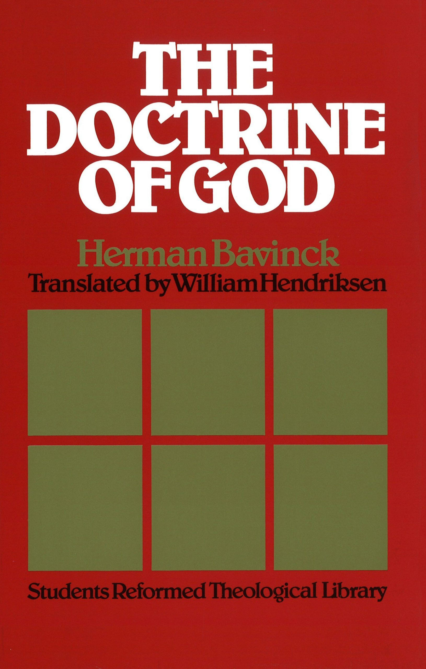 Book Cover For 'Doctrine Of God'
