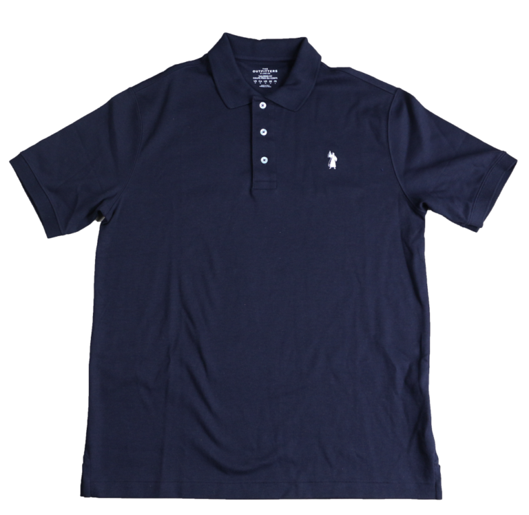 full view of the banner of truth polo shirt